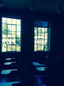 Classroom in Chapman Hall, before quarter begins